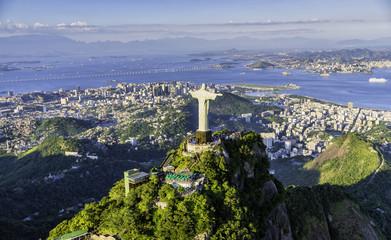 Aerial view of Botafogo Bay, Rio de Janeiro, Brazil