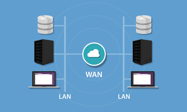 Networking with WAN and LAN connectivity local area network wideintranet topology