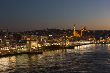 Istanbul at blue hours