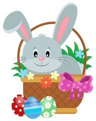 Easter basket with bunny theme 1