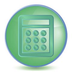 Icon Calculator color of malachite