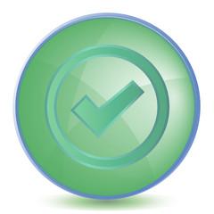 Icon Check color of malachite
