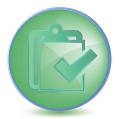 Icon Checklist color of malachite