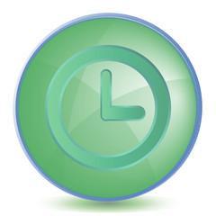 Icon Clock color of malachite