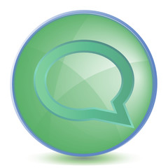 Icon Comments color of malachite