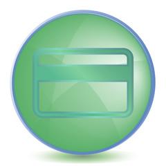 Icon Credit cart color of malachite