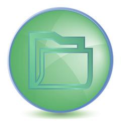 Icon Folder color of malachite