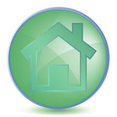 Icon Home color of malachite