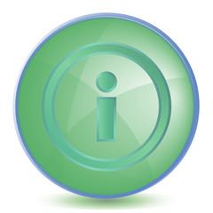 Icon Info color of malachite