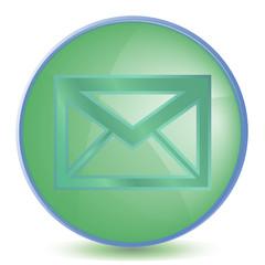 Icon Mail color of malachite