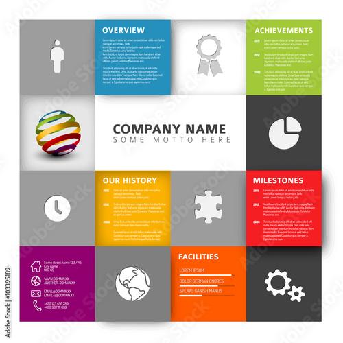 Mosaic Company profile template image and royaltyfree – Company Profile Template