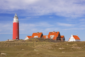 Lighthouse on the island of Texel in The Netherlands