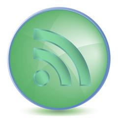 Icon RSS color of malachite