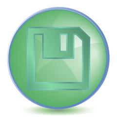 Icon Save color of malachite