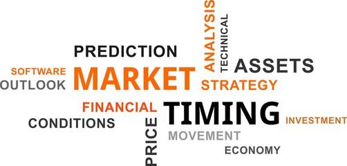 word cloud - market timing