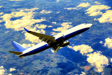 Gargo airplane taking off