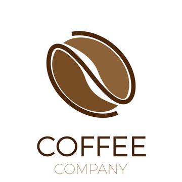 Vector sign coffee bean