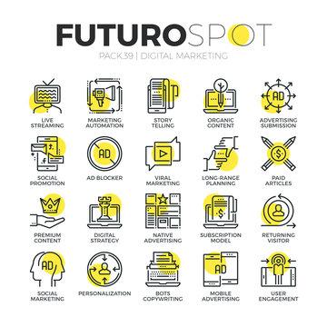 Digital Media Futuro Spot Icons
