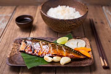 Grilled Saba fish Japanese Style