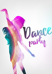 Disco Night Party Poster Background Template - Vector Illustration