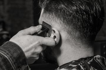 Haircut men Barbershop. Men's Hairdressers; barbers. Barber cuts