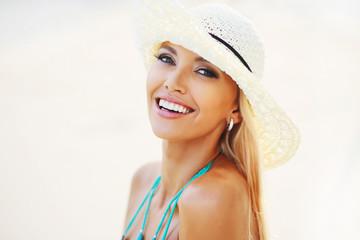 Beautiful pretty woman smiling