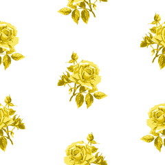Seamless floral pattern with little roses.