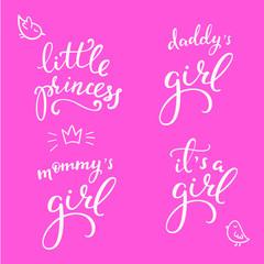 Lettering photography little girl overlay set