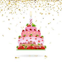 Celebratory Cake with Confetti