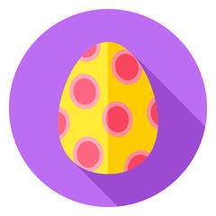 Easter Egg with Big Circles Decor Circle Icon