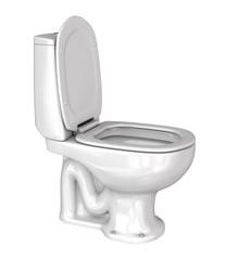 Toilet wc on white background. 3d illustration