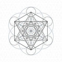 metatron outline seed of life sacred geometry.