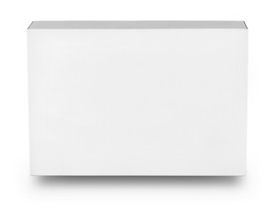 White rectangular box isolated on white background