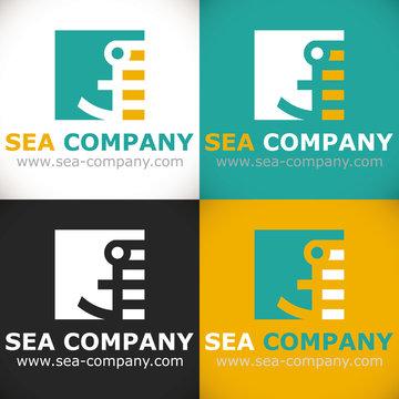 logo transport marin bateaux orange