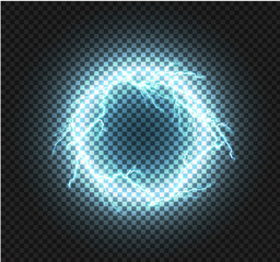 Round shiny frame background with lights.banner electric