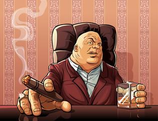 Mafia boss  Boss of a mafia clan - fototapety na wymiar