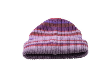 Kid's winter cap isolated on white background
