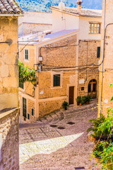 Wall Mural - View of a old idyllic mountain village at Majorca Fornalutx