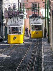 Standseilbahn Ascensor da Glória in Lissabon