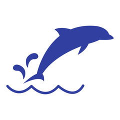 Photo sur Aluminium Dauphins Stylized icon of a colored Dolphin on a white background