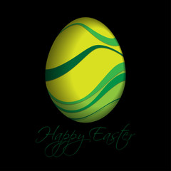 greeting card with text - colored Easter egg