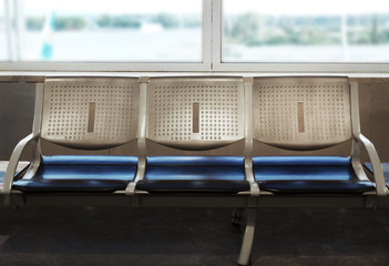Airport seating for waiting a flight