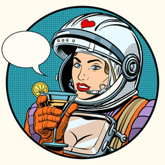 love woman cosmonaut cocktail