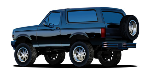 Offroad SUV vehicle. Vector EPS10 isolated, separated layers, quick repaint