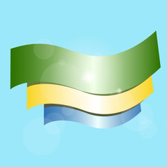 Flag of Gabon. Vector illustration, eps 10