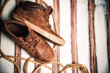 Stylish men's shoes, leather shoes
