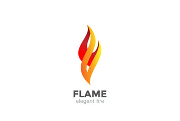 Fire Flame Logo abstract design vector elegant Fashion Jewelry