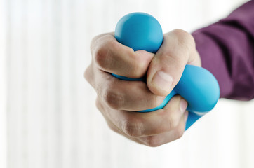 Anti-stress balls in hand