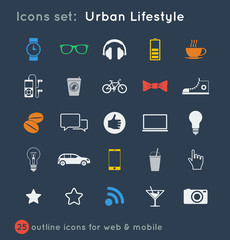 vectoral icons set for communications
