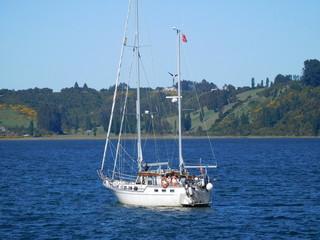 Seegelboot auf See